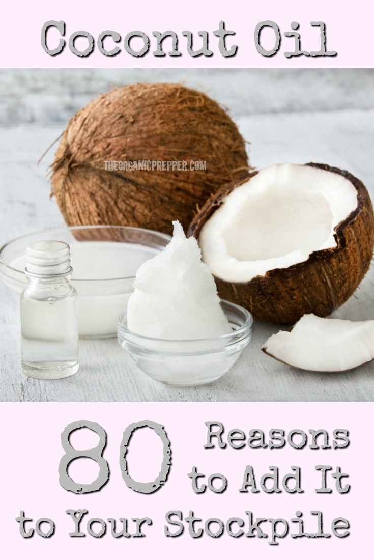 Coconut oil is a shelf stable product that does it all. It can be used in place of butter, shortening, and cooking oil, and also as a health and beauty aid.