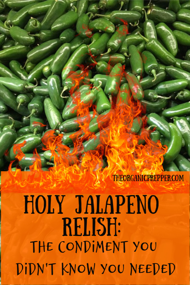 Here\'s how to make Holy Jalapeno Relish, the condiment you didn\'t know you needed until you tried it. (Water bath canning instructions are included.) | The Organic Prepper