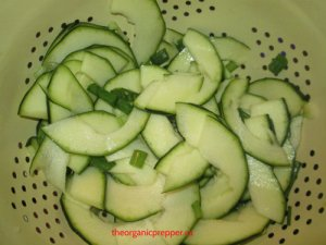 sliced zuke for pickles