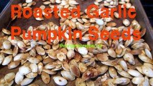 roasted garlic pumpkin seeds