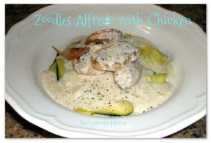 Zoodles Alfredo with Chicken