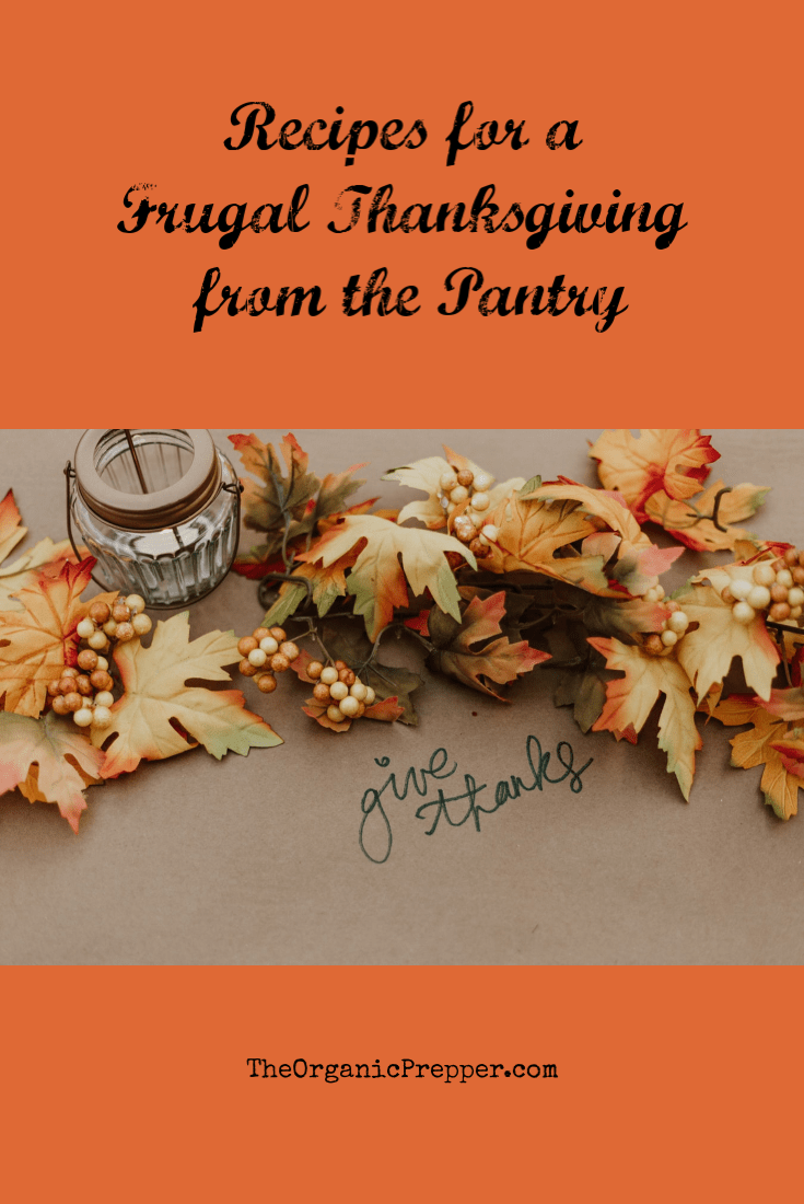 Contrary to what you may think, you don\'t have to spend an entire month\'s grocery budget to put together a memorable and delicious Thanksgiving dinner. You can make a lot of it right from your pantry!