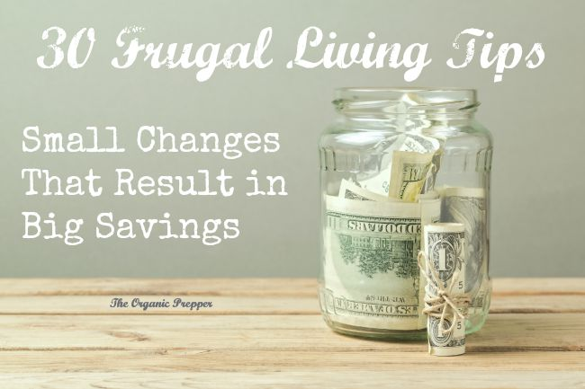 30 Frugal Living Tips