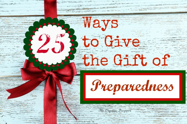 In a world that is becoming increasingly more dangerous, here are 25 ways to give the gift of preparedness to the ones you love.