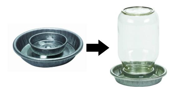 mason jar waterer