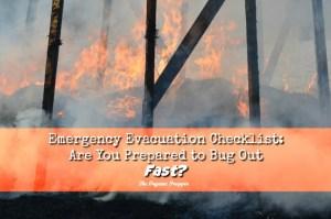 Emergency Evacuation Checklist
