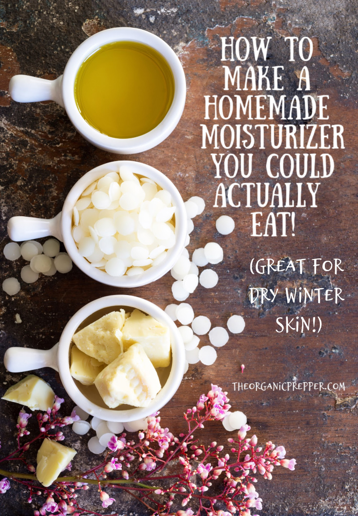 Are you sick of all the nasty chemicals in skin care products? Here\'s how to make a homemade moisturizer you could actually eat!
