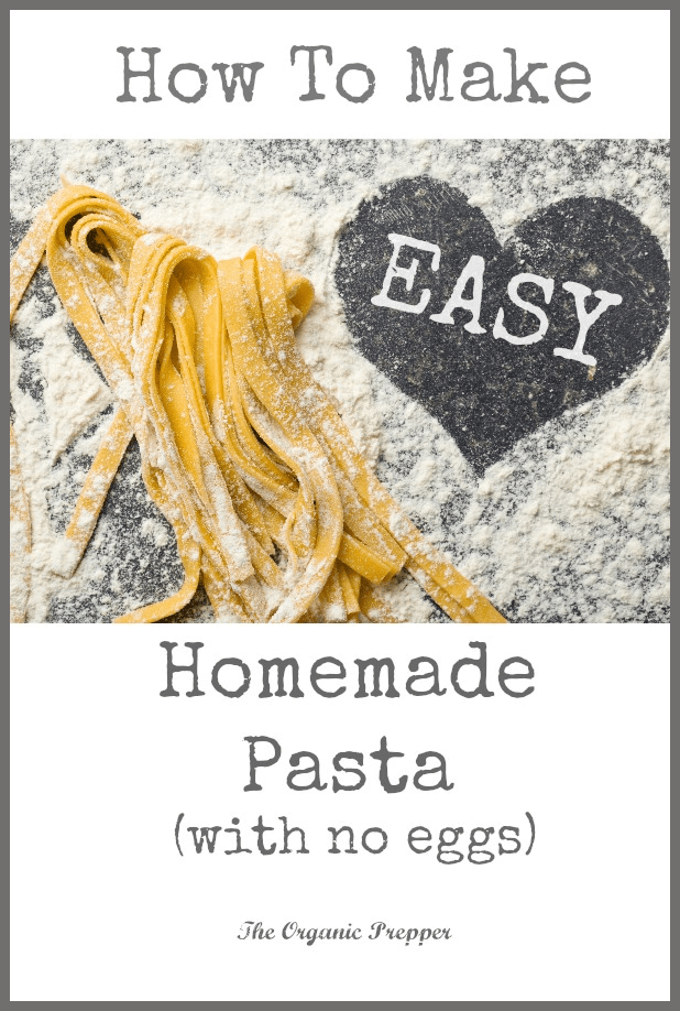 Easy homemade pasta can be yours - and very inexpensively! There is absolutely no comparison to that dry stuff in the box!  (This recipe is egg-free.)