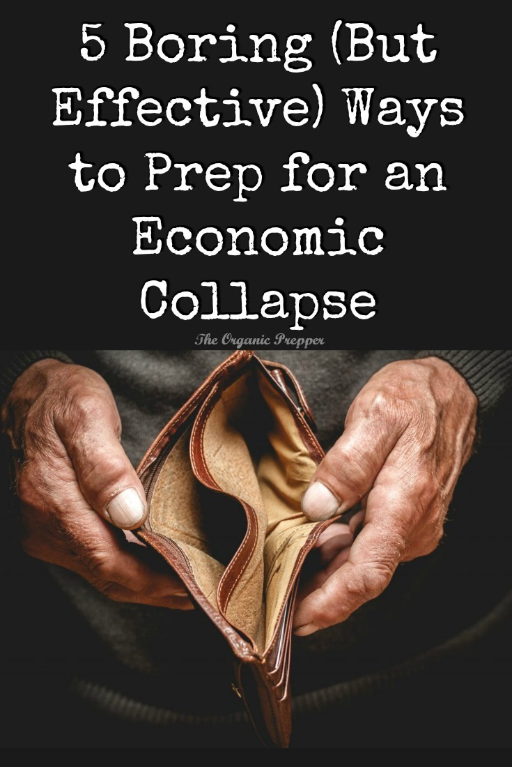 5 Boring (But Effective) Ways to Prep for an Economic Collapse