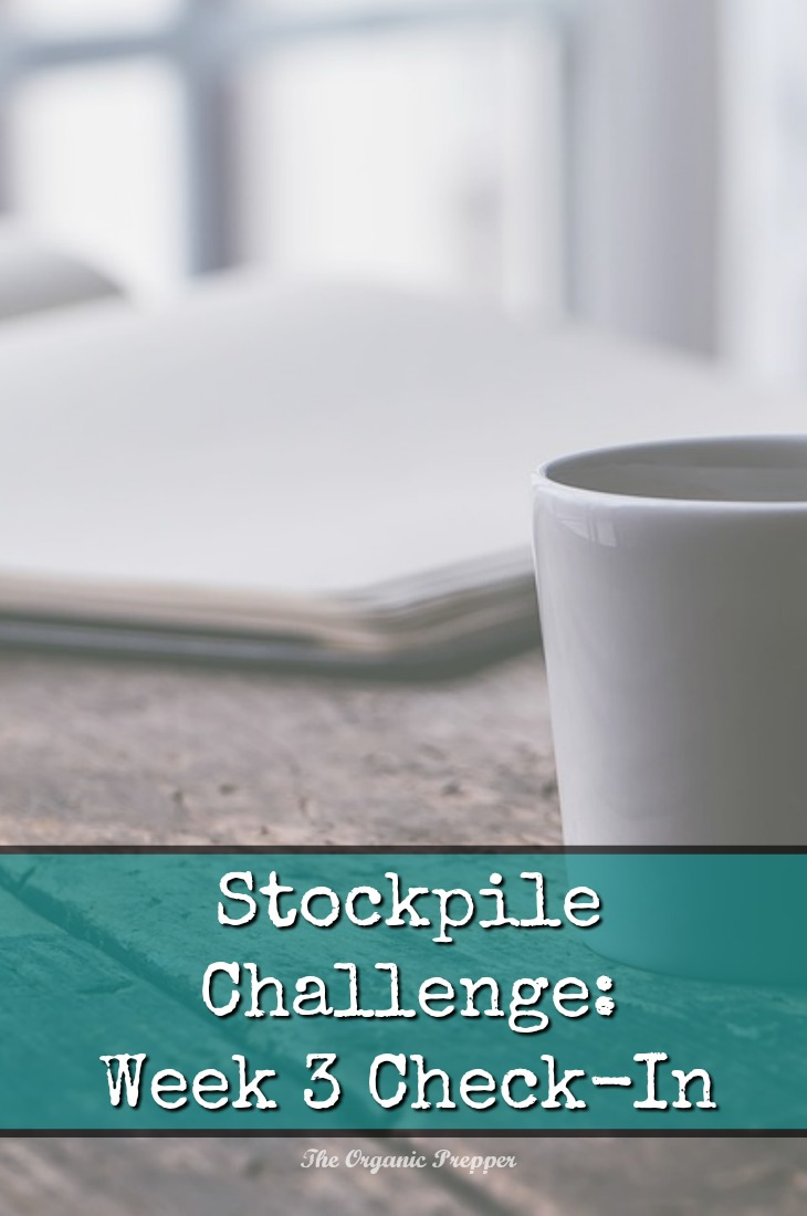 As we go into the homestretch of the stockpile challenge, we're learning a lot from each other. Here's this week's check-in. | The Organic Prepper