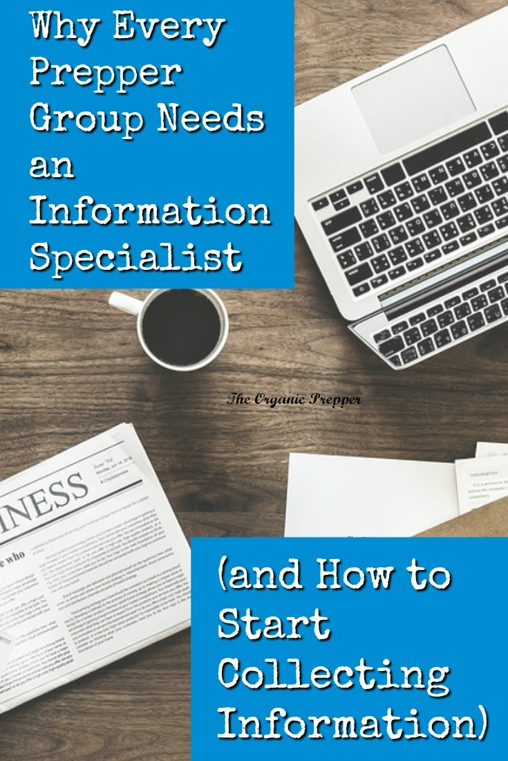 """Many preppers gather into groups to acquire skills and equipment they don't have. One skill that is often overlooked is that of the """"Information Specialist."""