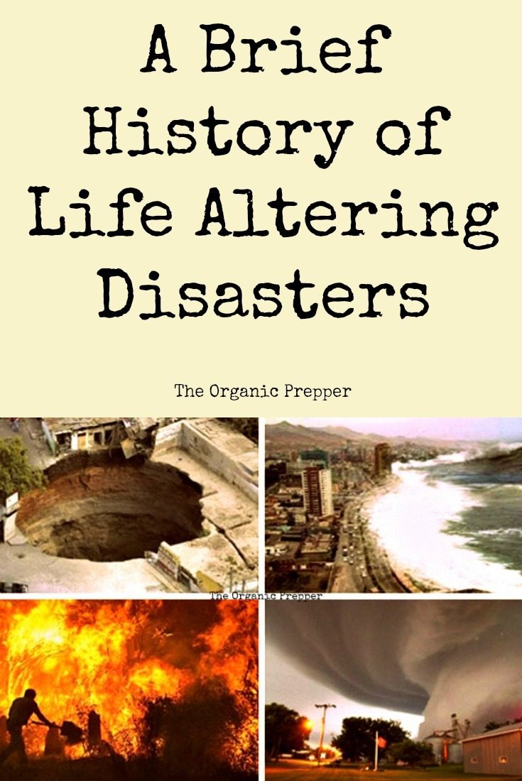 Our planet has a long history of disasters, and it's a history that we can learn from now. For your reference, here's a brief history of the life-altering disasters that have been recorded and predicted. | The Organic Prepper