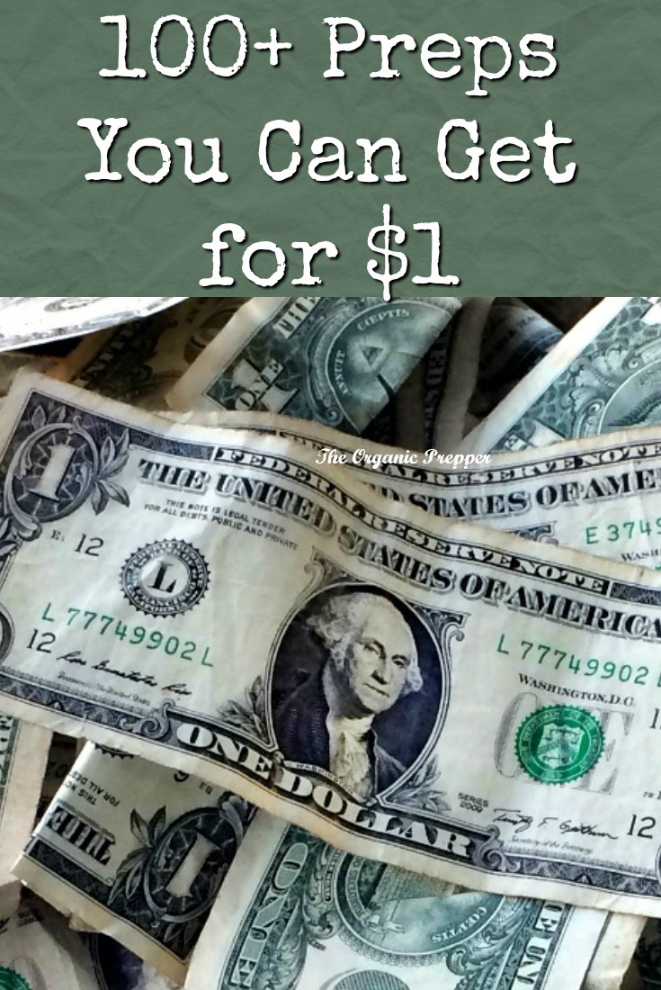 If you can put aside $5-$10 per month for these $1 preps, you'll have a surprisingly large supply by the end of the year. | The Organic Prepper
