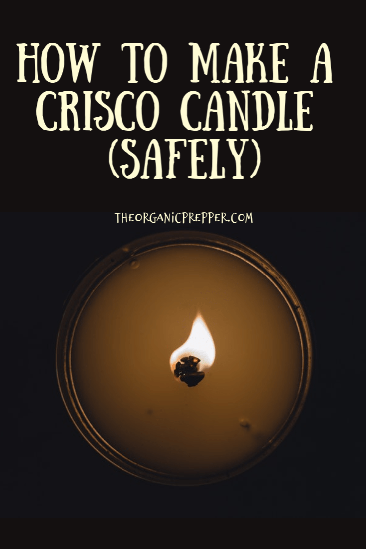 Want an inexpensive method for emergency lighting that you can make with the kids? Make a Crisco candle! Here\'s how to do it safely.