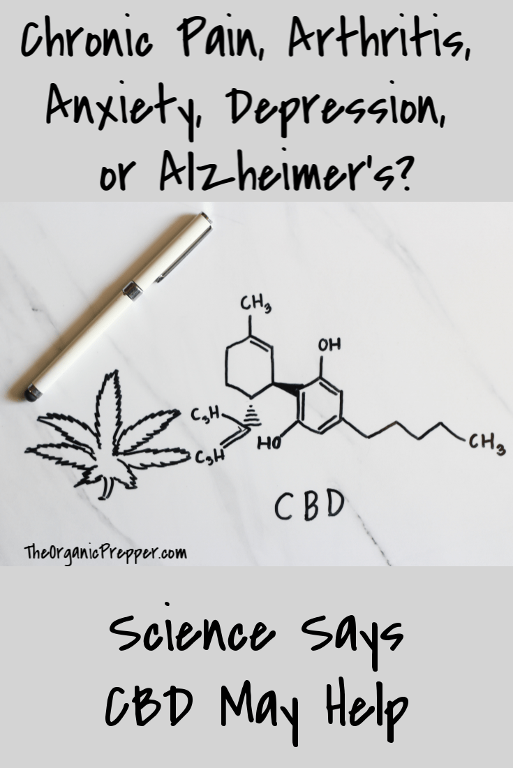 Chronic Pain, Arthritis, Anxiety, Depression, or Alzheimer's? Scientific research says that CBD may help these conditions. | The Organic Prepper