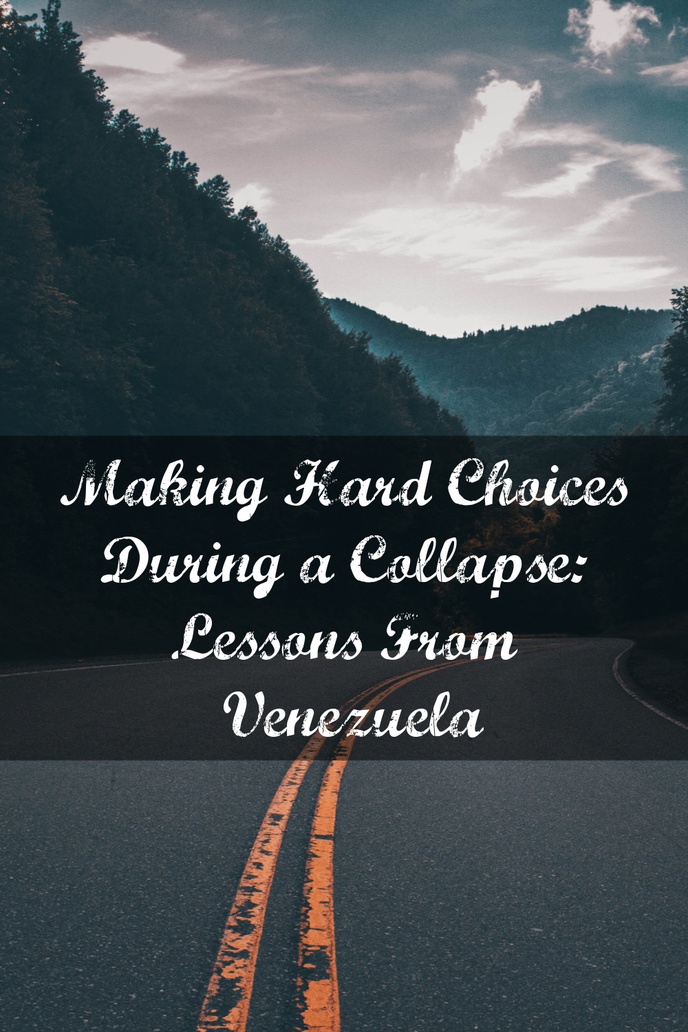 In this article, Jose discusses some of the difficult choices he had to make when Venezuela collapsed, and how he could have done things differently.
