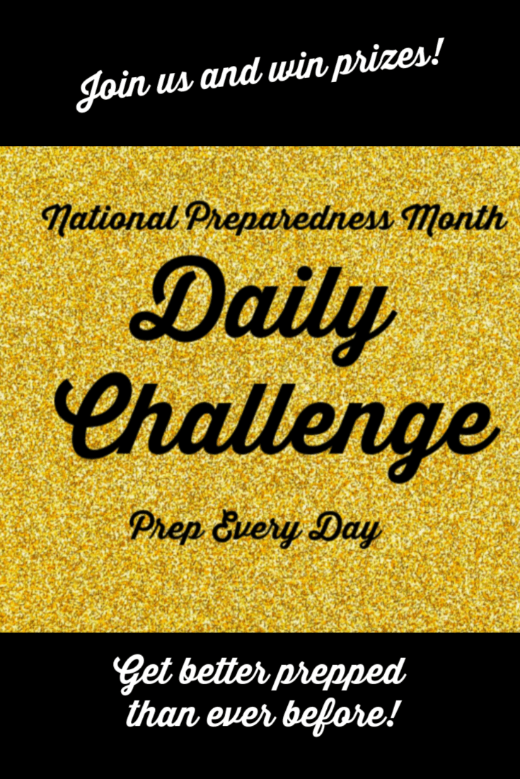 Want to get better prepped than ever before? Join us for the National Preparedness Month Daily Challenge and take 30 small steps to preparedness. | The Organic Prepper