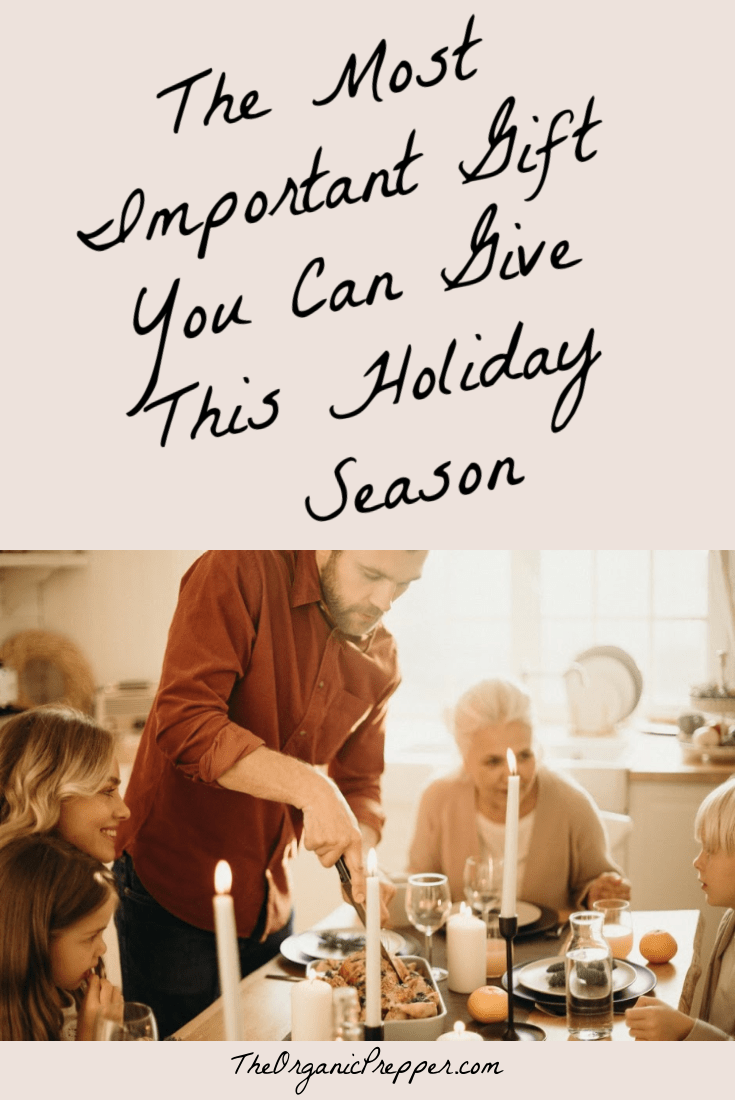 The most important gift you can give this holiday season doesn\'t come from a store. This author remembers every year a holiday she regrets.