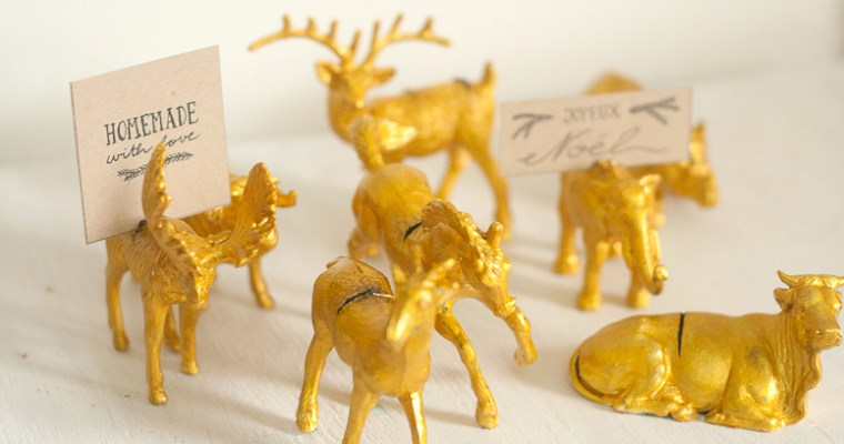 DIY | Gold Animal Place Card Holders