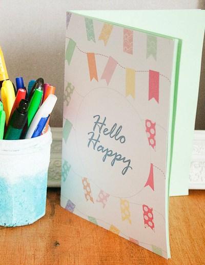 Hello Happy Notebook Freebie & Tutorial