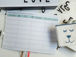 Free printable handmade gift planning worksheet