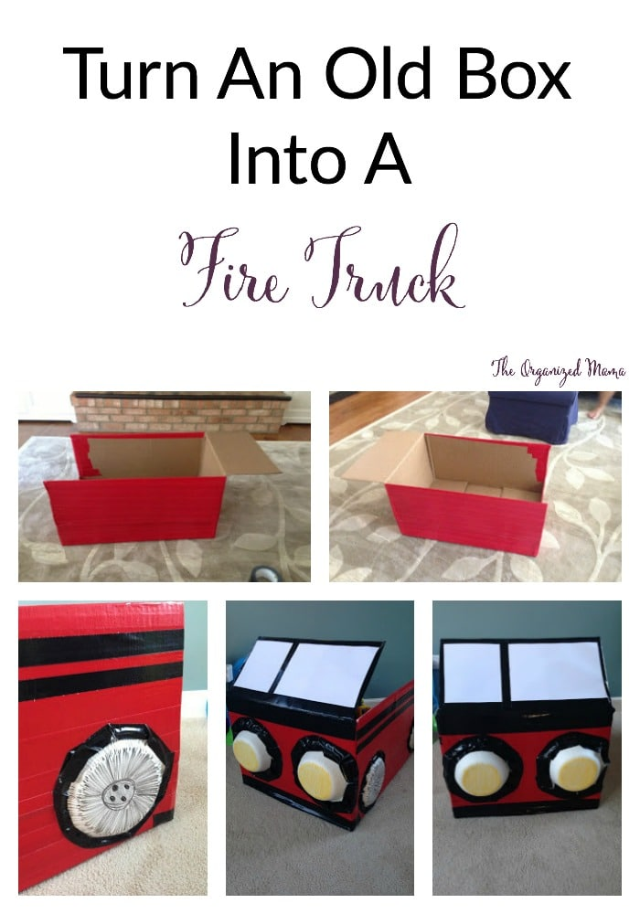 Fire Truck Box Collage