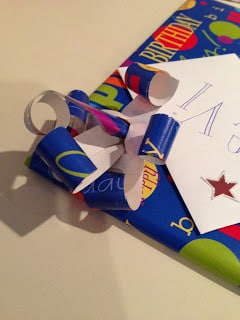 Wrapping Gifts with Bows