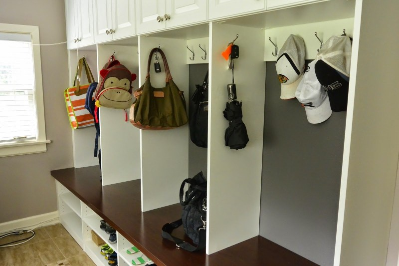 Installing Cubbies In The Mudroom