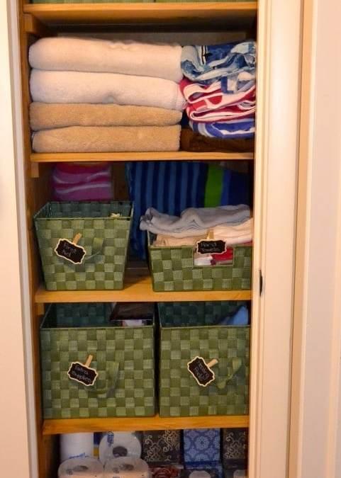 Labeling The Linen Closet