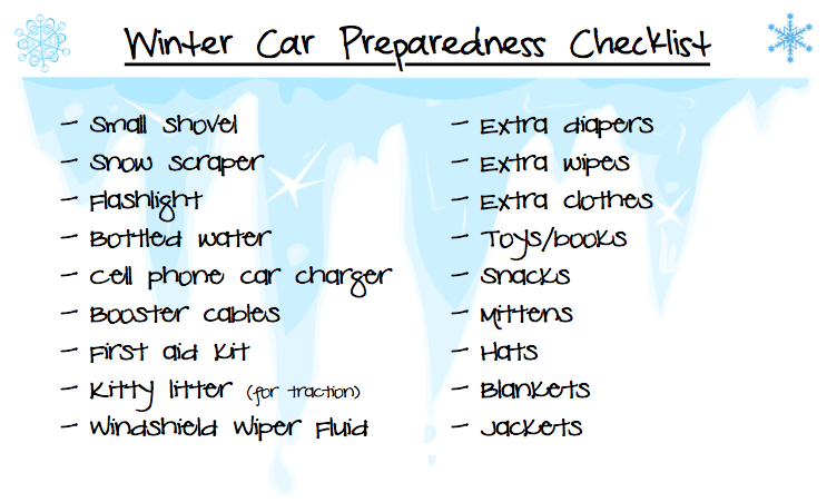 Getting Organized: Car Preparedness
