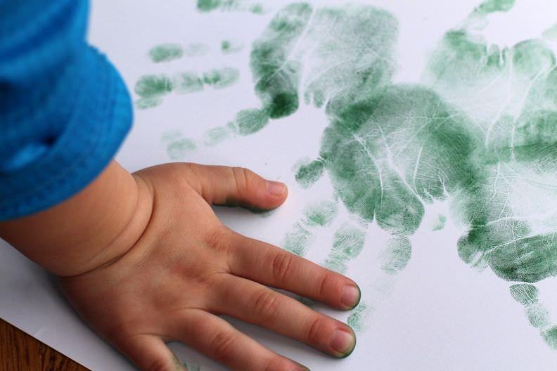 Hand Print Shamrocks Craft