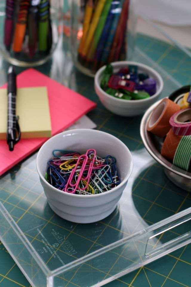 Organizing The Office And Craft Room - Tray Paperclips