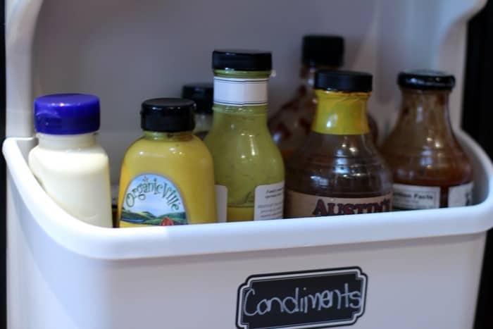 Fridge And Freezer Organization - Condiments