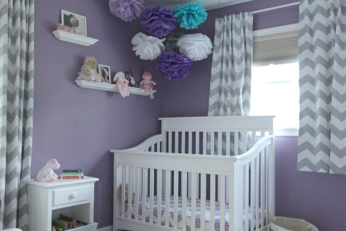 Room Tour: Purple, Teal and Grey Toddler Room - Crib