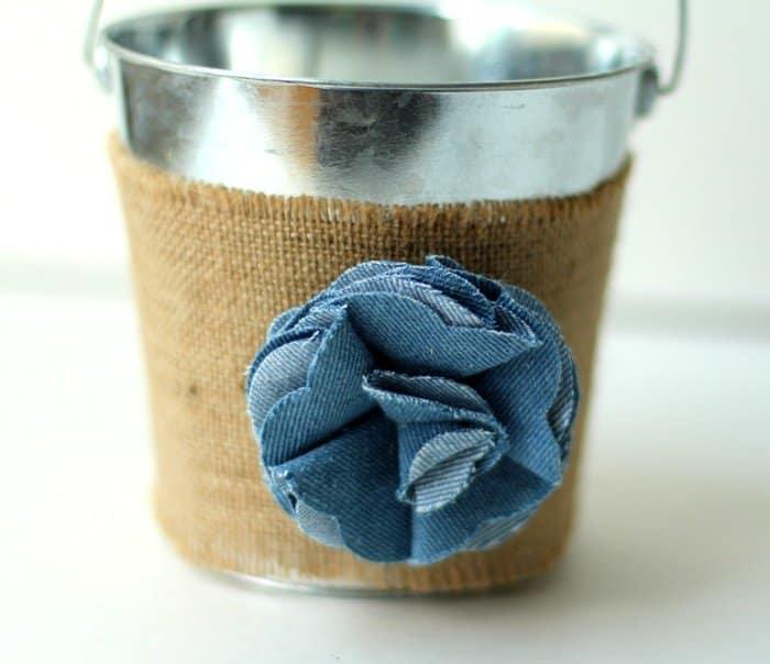 End Of Year Teacher Gift - Denim Flower