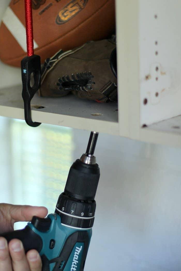 Sports Ball Garage Storage Solution - Drill