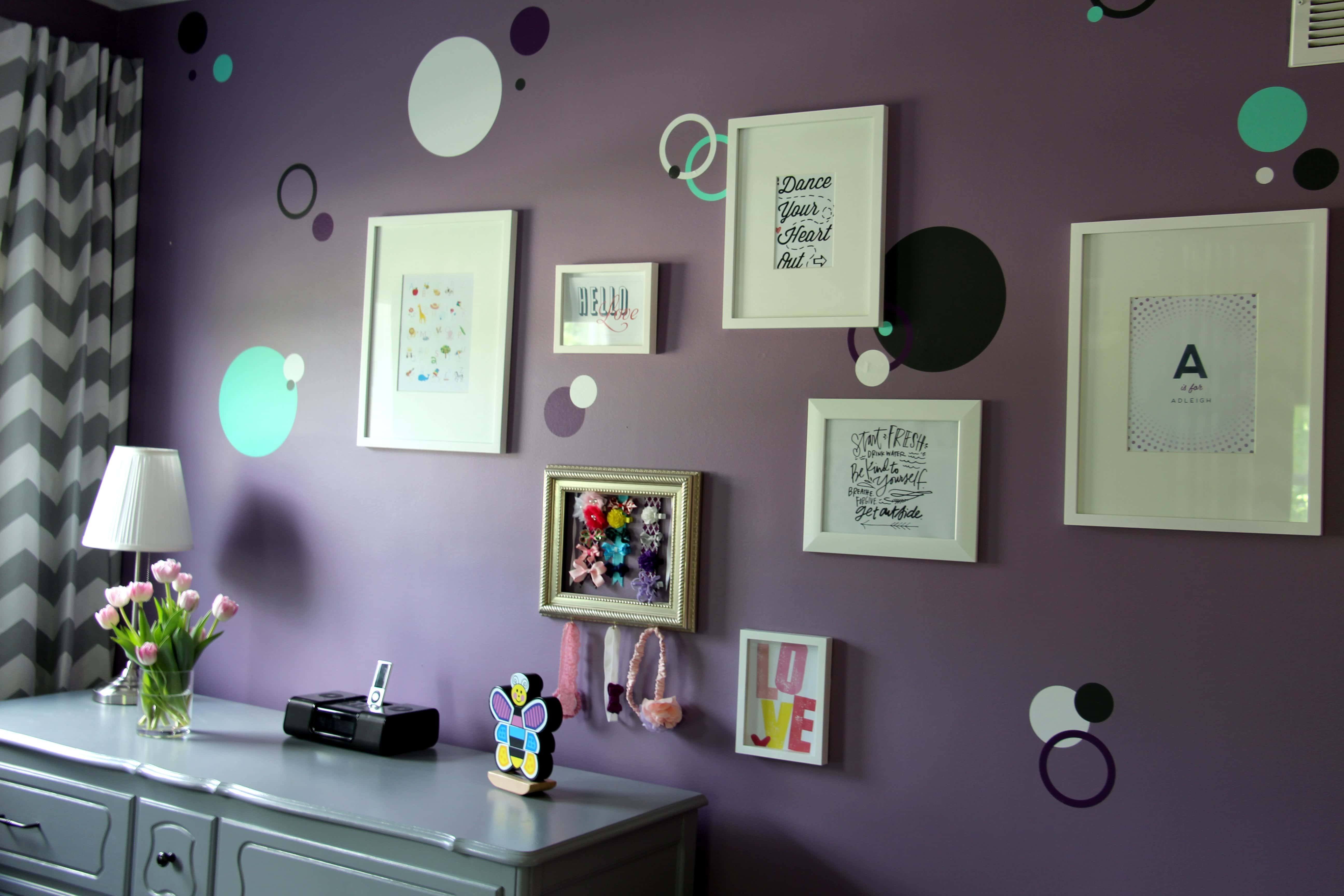 Room Tour Purple Teal And Grey Toddler Room The Organized Mama