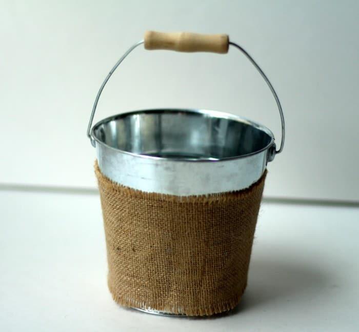 End Of Year Teacher Gift - Galvanized Bucket Burlap
