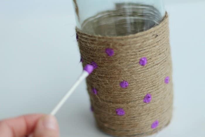 DIY Rope Vase Tutorial - Painting Dots