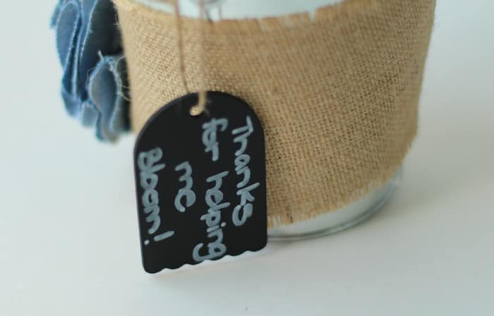 End Of Year Teacher Gift - Tag On Galvanized Bucket