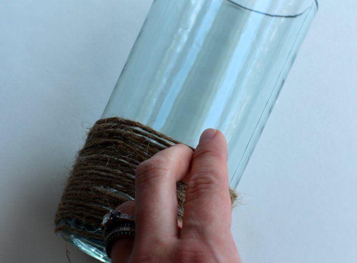 DIY Rope Vase Tutorial - Wrapping Rope Vase