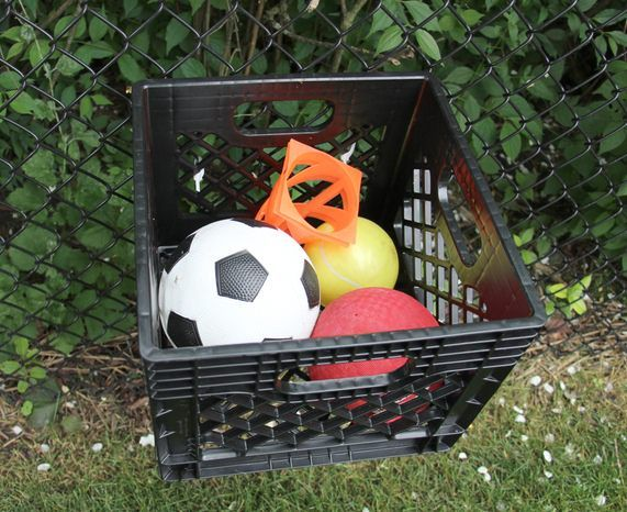 Outdoor Toy Storage Solutions - Ball Storage