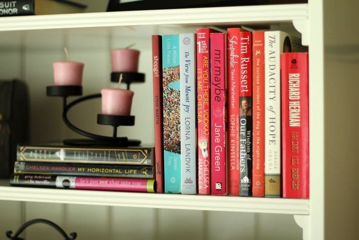 Decorating Living Room Shelves - Books And Candles