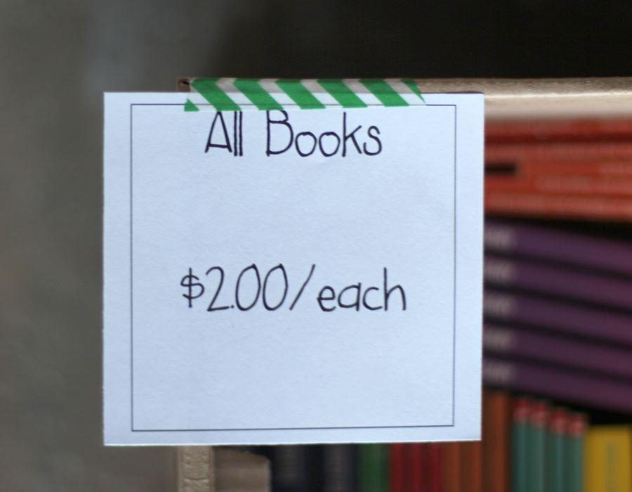 How To Organize For A Garage Sale - Books Garage Sale