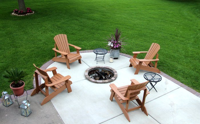 Setting Up A Patio - Fire Pit