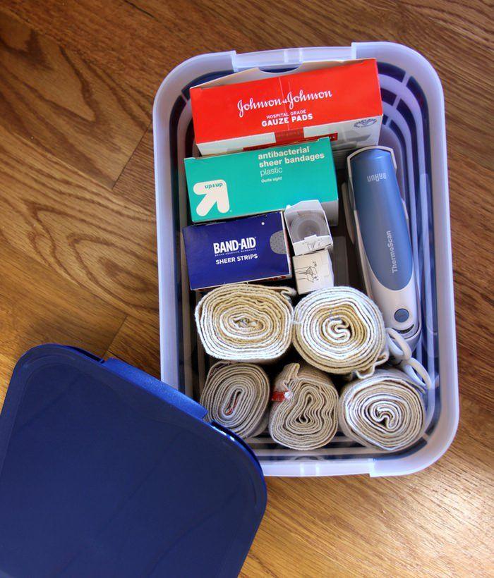 Linen Closet Organization - First Aid Kit