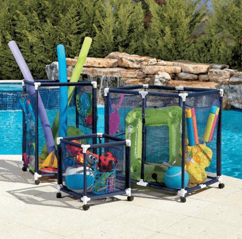 Beach Toy Storage - Mesh Pool Storage Bins