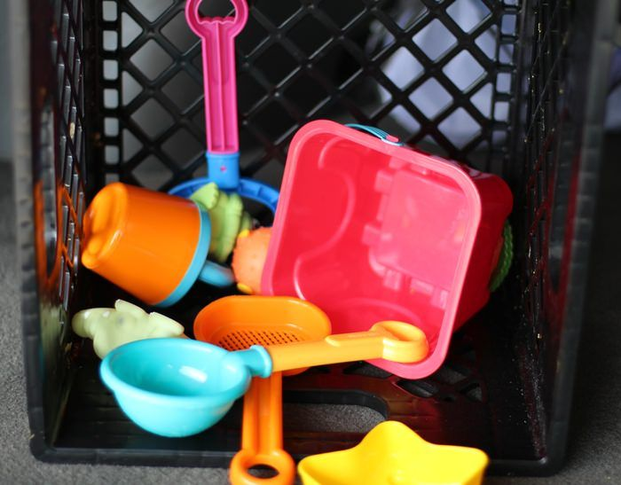 Beach Toy Storage - Milk Crate Storage