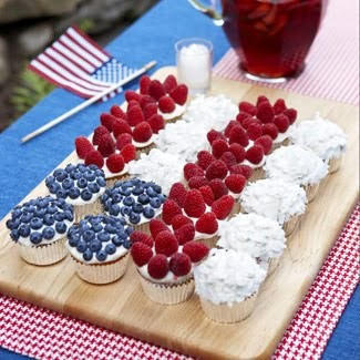 Fourth Of July Ideas - Red White And Blue Cupcakes