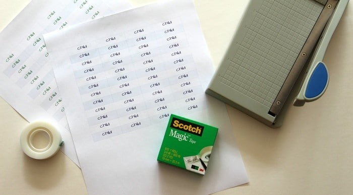 How To Label Supplies And Other Organizing Tidbits - Labels Supplies With Scotch Tape